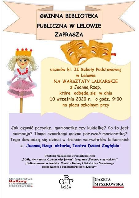 Read more about the article WARSZTATY LALKARSKIE